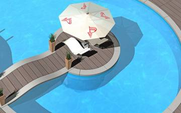 sunshade and pool