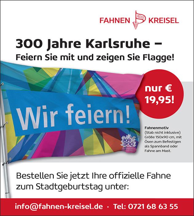 Stadtgeburtstag Karlsruhe Fahne