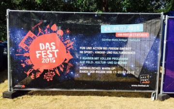 Bauzaunbanner Das Fest Karlsruhe Fahnen Kreisel