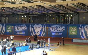 Spannbanner Basketball Lions Karlsruhe Fahnen Kreisel